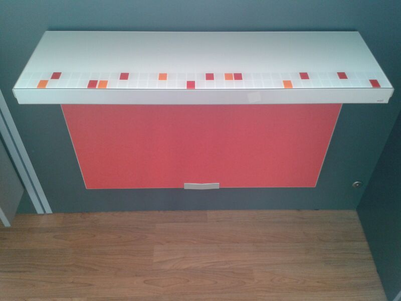 MESA SINGLE WALL 80 TEOREMA - ROJO